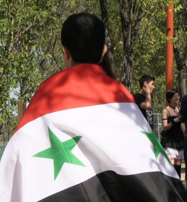 Aug. 31, 2013: Winnipeggers rallied to voice opposition to foreign intervention in Syria's civil war. Photo: Paul S. Graham