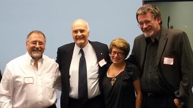 Panelists (l-r): Darrell Rankin, Howard Pawley, Judy W,, Paul Graham. Photo: Maggi Robinson