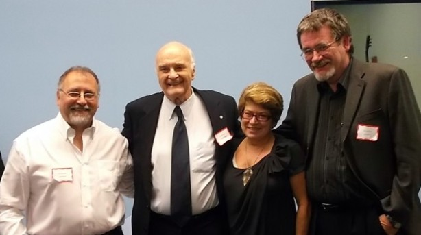 Panelists (l-r): Darrell Rankin, Howard Pawley, Judy W,, Paul Graham. Photo: Maggi Robinson