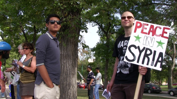 Winnipeg Peace in Syria Rally