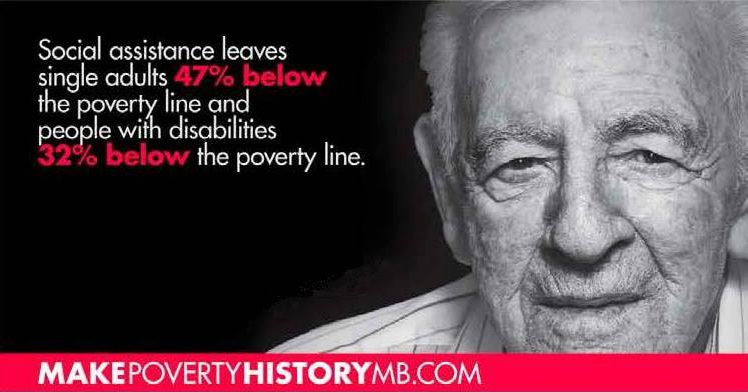 Make Poverty History is conducting a postcard campaign to convince the provincial government to adopt a poverty reduction strategy with measureable, meaningful goals.
